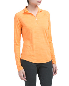Golf Long Sleeve Heathered Quarter Zip Top
