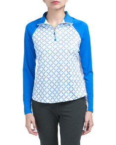 Golf Solar Xp Quarter Zip Printed Top