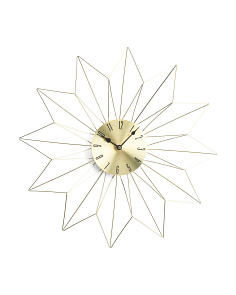 Star Metal Wall Clock