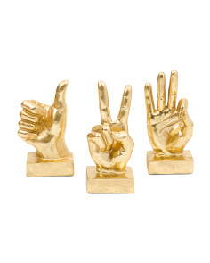 Set Of 3 Peace Sign Hands