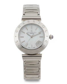 Women's Swiss Made Alexandre Mother Of Pearl Dial Watch