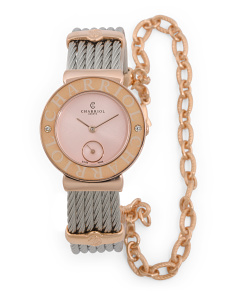 Women's Swiss Made Diamond Accent St. Tropez Bracelet Watch
