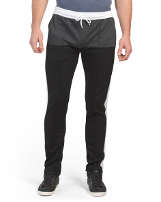 Side Stripe Color Block Fleece Joggers