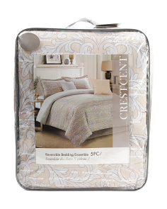 5pc Printed Reversible Comforter Set