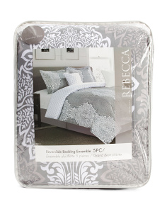 5pc Rebecca Reversible Comforter Set