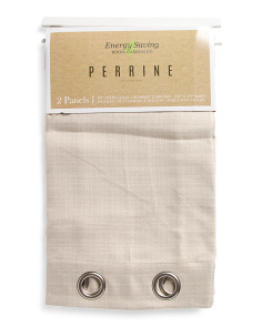 38x95 Set Of 2 Linen Look Curtains