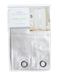 38x84 Set Of 2 Lined Energy Saving Room Darkening Curtains