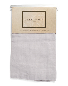 Set Of 2 Linen Look Curtains