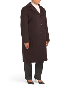 Plus Long Wool Coat