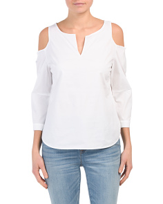 Petite Agnes Cold Shoulder Top