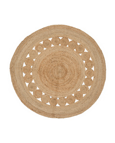 Made In India Round Accent Rug