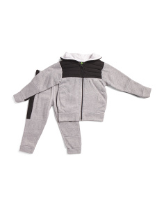 Little Boys 2pc Hooded Fleece Jacket And Joggers Set