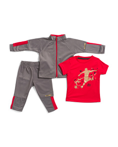 Toddler Boys 3pc Tricot Slim Fit Track Suit