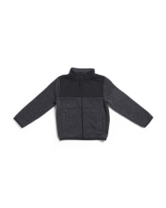 Boys Marled Sweater Trail Jacket