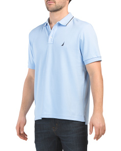 Tipped Collar Solid Interlock Polo