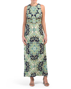 Petite Floral Medallion Maxi Dress