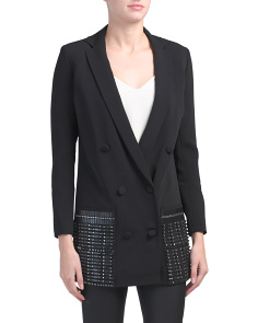 Classic Stretch Cady Double Breasted Blazer