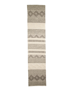 Made In India Wool 2x10 Contemporary Runner