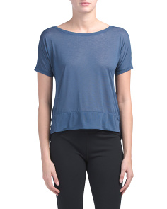 Cropped Hi-lo Top