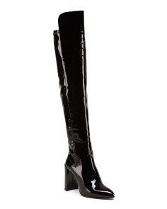 Made In Spain To The Knee Patent Leather Boots