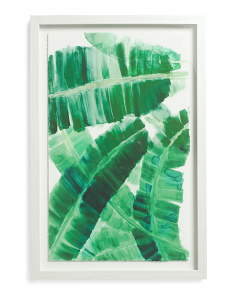 16x24 Banana Leaf Print Framed Wall Art