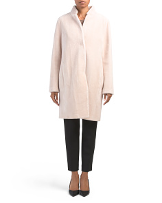 Inverted Collar Wool Blend Coat
