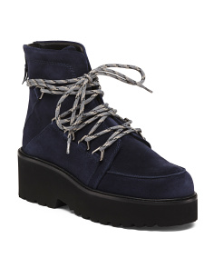 Made In Spain Suede Hiker Booties