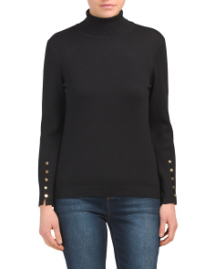 Turtleneck Sweater With Metal Detail