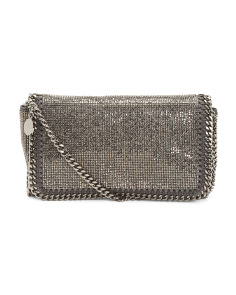 Made In Italy Falabella Crystal Stones Crossbody