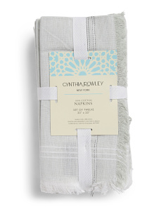 Made In India 12pk Arielle Chambray Napkins