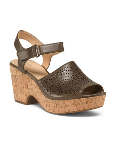 Leather Cork Bottom Comfort Sandals