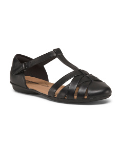 Wide Leather Comfort Sandals