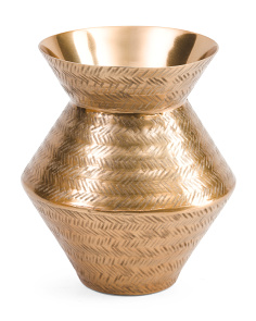 Made In India Etched Aluminum Vase