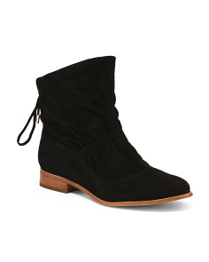 Suede Comfort High Ankle Booties