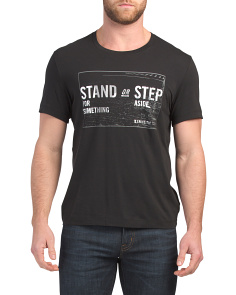 Stand Or Step Graphic Crew Neck Tee