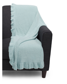 Ruffle Knit Throw