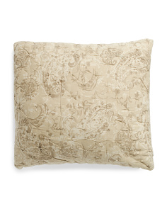 Made In India Artisan Textured Quilted Pillow