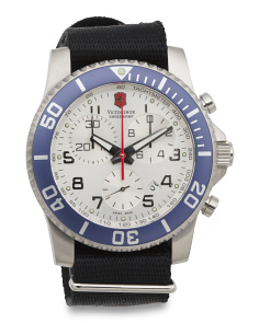 Men's Swiss Made Maverick Ii Chrono Bracelet Watch