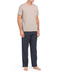 Boxed Pajama Set With Flannel Pants