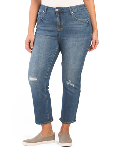 Plus High Rise Ankle Flare Jeans