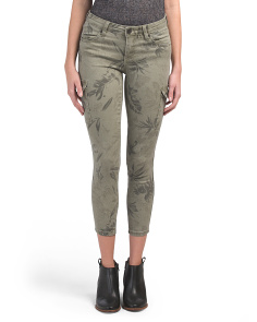 Petite Tropical Cargo Brigitte Pants