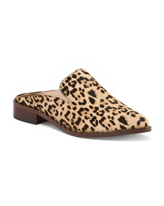 Animal Print Haircalf Mules