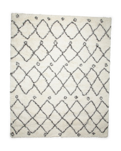 Made In Turkey Diamond Shag Rug