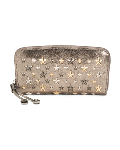 Made In Italy Glitter Leather Wallet