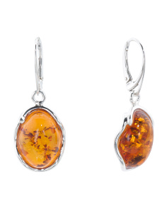 Made In Poland Baltic Cognac Amber Earrings