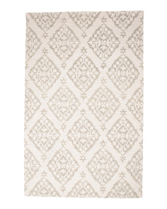 Made In India Medallion Wool Blend Area Rug