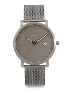 Men's Hagen Titanium And Steel Mesh Strap Watch