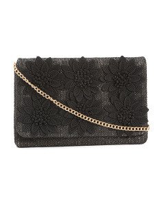 Textured Flower Clutch