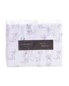 200tc Puppy Outline Sheet Set