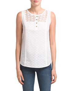 Optic Patchwork Dobby Sleeveless Top